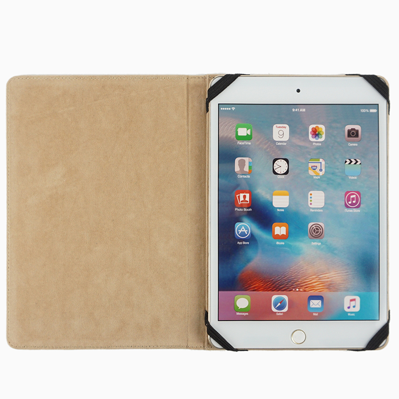 Universal tablet cover case genuine cowhide leather protect case stand holder for ipad pro 10'' with smart wake