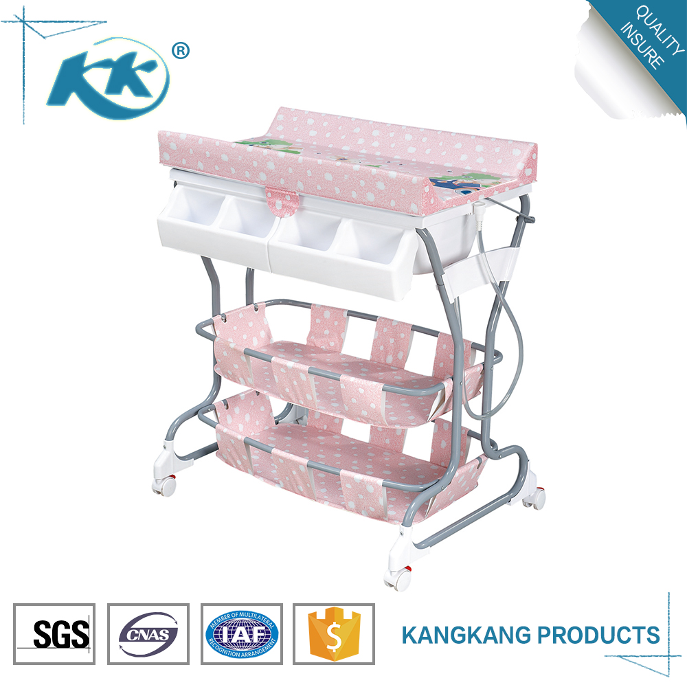 Gold supplier plastic portable tub folding stand set diaper changing table baby bath tub with stand