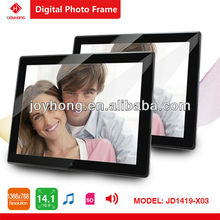 14.1 inch full function Black Mirror New Private Design with Private UI Digital photo frame ( Picture /Music/Movie/Calendar /Mem