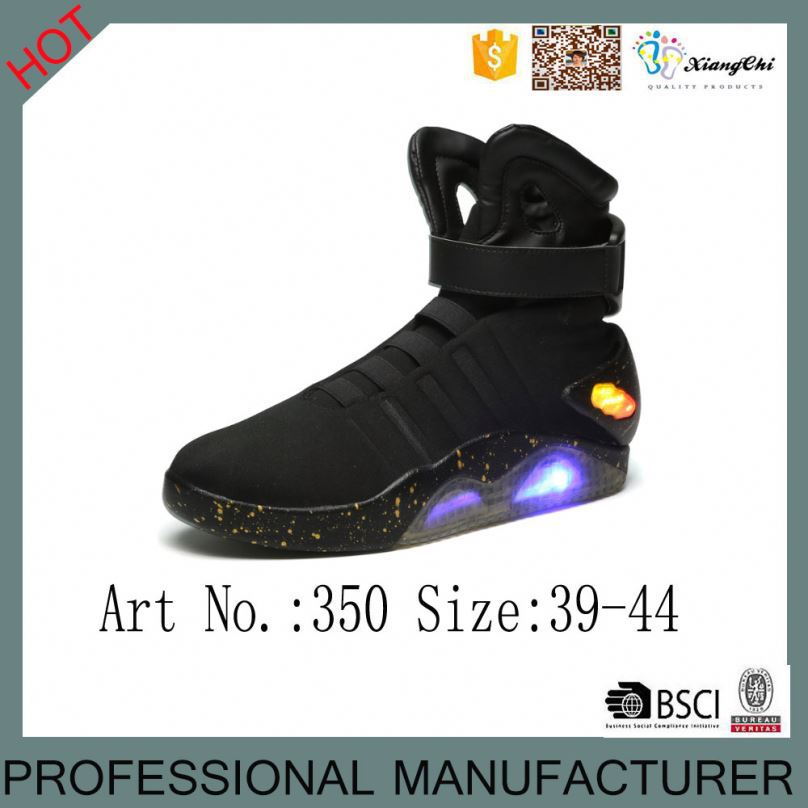 2016 New stylish glowing USB charge men LED basketball shoes
