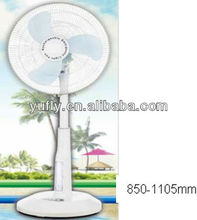 Electrical rechargeable battery operated fan with light Stand rechargeable fan