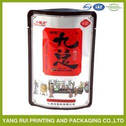 Big factory manufacture heat seal resealable aluminum foil plastic bags for food