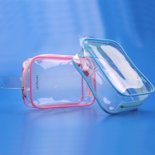 2016 Easy carrying professional clear pvc waterproof travel cosmetic makeup bag