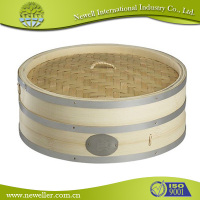 Natural Round bamboo steamer hot sale in hongkong area With quality guarantee