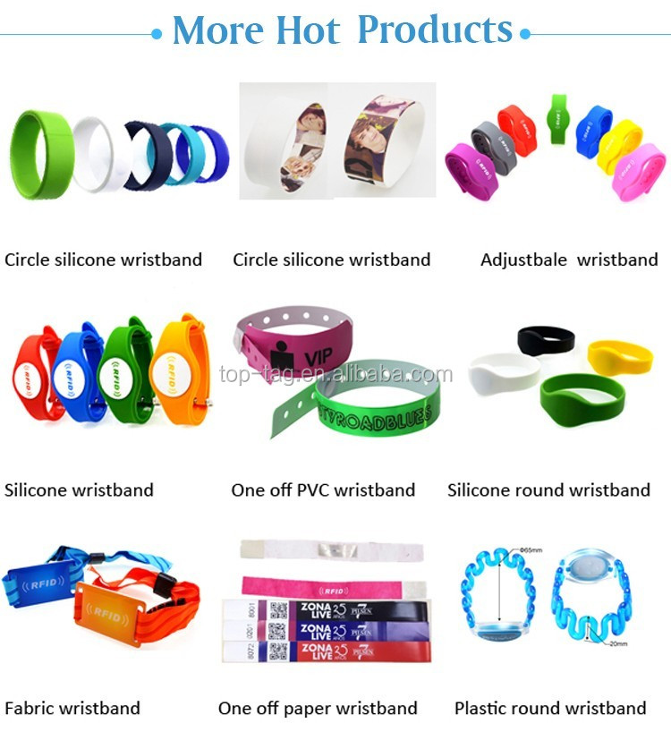 NFC Chip 1K Event Fabric RFID Wristband, Fabric Bracelet with Slide Lock