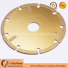 115mm vacuum brazed diamond metal cutting disc for stainless steel iron