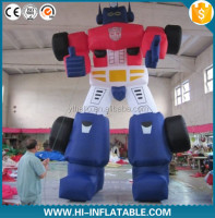 High quality giant International Anime Fair inflatable optimus prime cartoon character