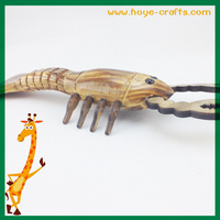 decorative handicrafts wooden animal lobster shaped