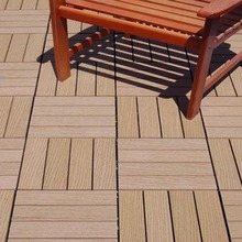 wood embossed more color choice anti -aging UV resistance wpc interlocking wood deck tiles