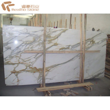 Calcutta Gold Marble Slab for Lift Lobby Wall Tiles
