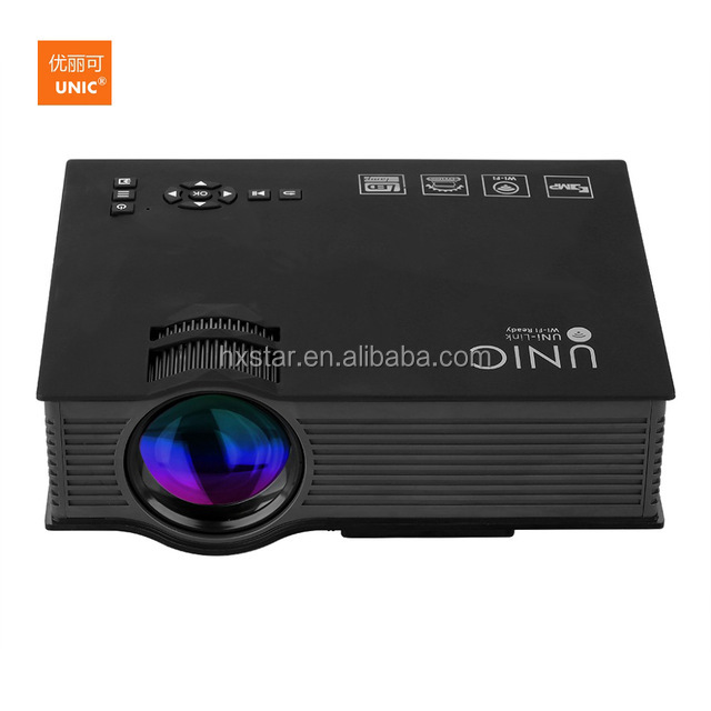 UNIC UC46+ Wireless WIFI Mini Portable Projector 1200 Lumen 800 x 480 Full HD LED Home Cinema Support Miracast/Airplay Projector