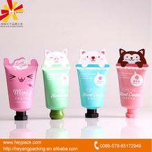 50ml small tube animal shape end hand cream packaging tubes