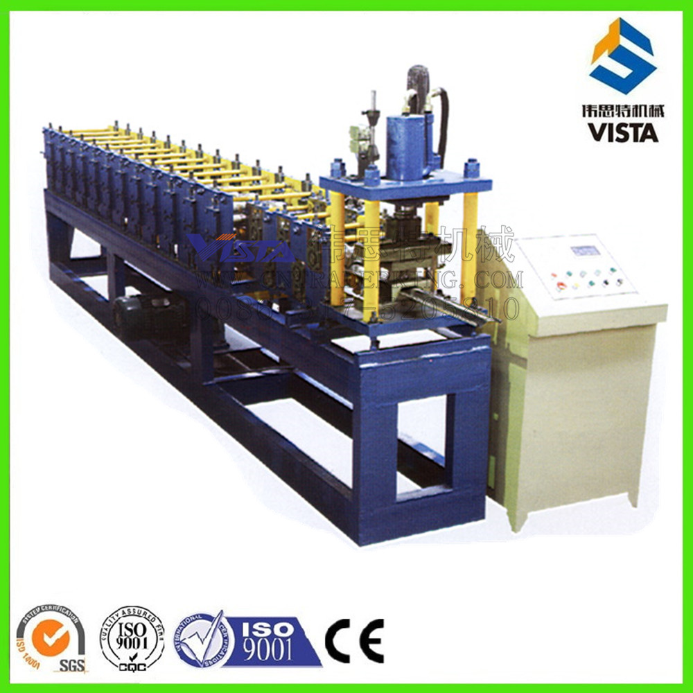 vertical outdoor enclosure frame rollforming tools steel profile roller shutter door gate frame shapping machine