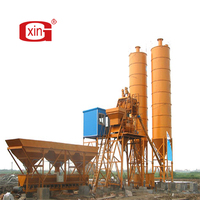 HZS25 mobile small cement plant mixing concrete batching plant for sale