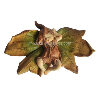 Fairy garden sleeping fairy baby with dragonfly outdoor statue for sale