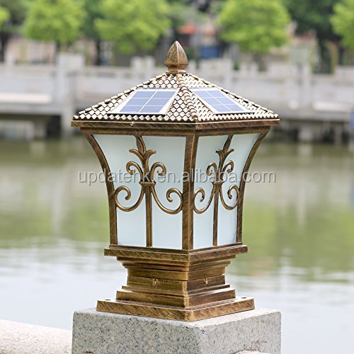 Solar Gate Post Pillar Light High-grade Outdoor Decorative Solar Fence Post light LED Wall Lamps For Garden Yard