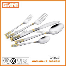 Royal Stainless Steel Cutlery Set With Gold Plated
