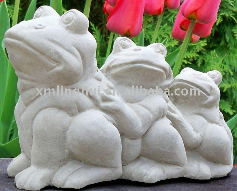 Ranas de hormig n jard n estatua esculturas decoraci n de for Ranas decoracion jardin