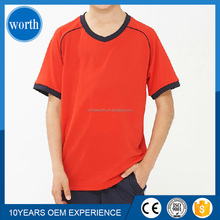 quick dry China small v-necked dri-fit fabric export quality t shirt