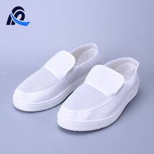 High Quality ESD PU Sole White Anti-Static Mesh Canvas Cleanroom Shoes
