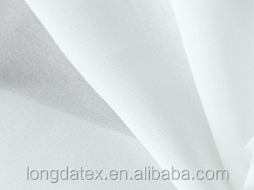 High quality hot sale polyester white silk chiffon fabric