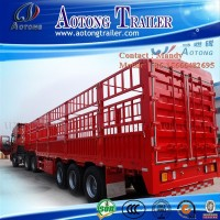 3 axles enclosed cargo box semi trailer in China