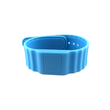 Waterproof Silicone 13.56MHz NFC RFID Bracelet with Customized Logo