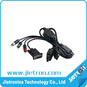 HD-MI Female to VGA Male Cable for PS3/WII( JT-1004701)