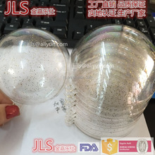 personalized christmas decoration clear transparent plastic ball