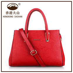 2016 China Best Sale Red Cute Design Women Shoulder Bag China Wholesale Leather Bags Women Hand Bags Factory Price