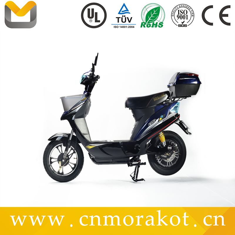 hot selling electric bike with basket/ electric moped scooter with pedals