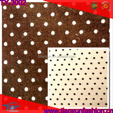 classic design soft textile medium weight organic polka dot cotton fabric