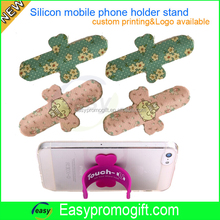 OEM make popular promotional gift silicone snap stand for phone