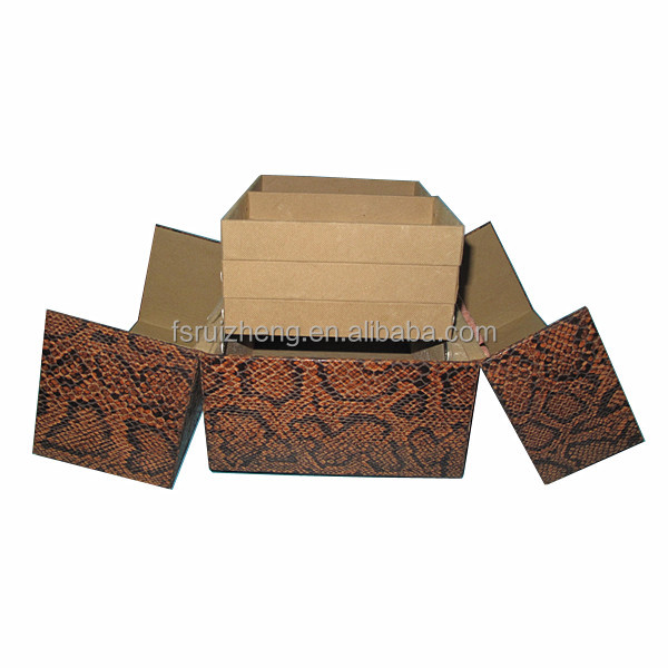 All imitation snakeskin pvc box RZ-LCO095-1