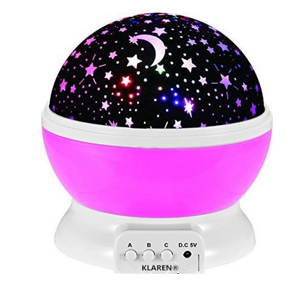 Night Lighting Lamp,Romantic Rotating Cosmos Star Sky Moon Projector , Ro