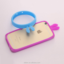 China Factory Lovely Bunny Rabbit Ear Universal Silicon Bumper Cell Phone Cover Protective Mobile Phone Case