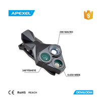 Apexel hot selling in Amazon 3 in 1 rotate switch protable mobile external lens APL-YT3 camera lens