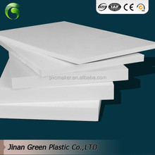 Green 2017 hot sale 4x8 pvc foam sheet 3mm 5mm 18mm foam sheet pvc white forex board