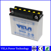 12n7 3a motorcycle battery 12N7B-3A conventional dry charged maintenance free battery