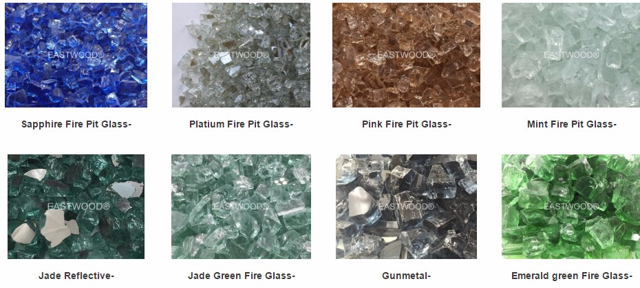 Crystal White Fire Pit Glass