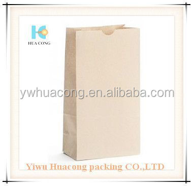 lowest price brown kraft grocery paper bag with flat handle