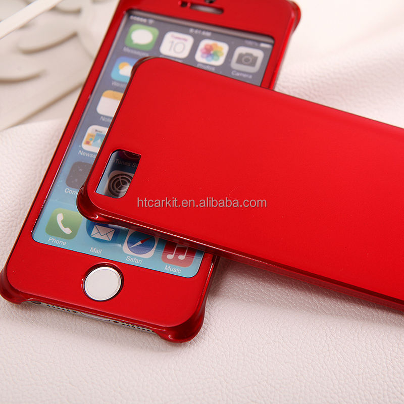 for iphone 5s golden magnetic full body big window cover case