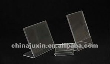 delicate clear acrylic tag holder Sign/picture/file Holder