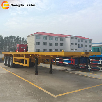 new 40ft self loading container trailer price and 20ft flatbed container dolly semi trailer with container lock