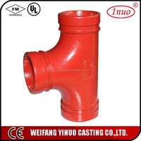 45 degree pipe fitting lateral tee A536 galvanized silver color