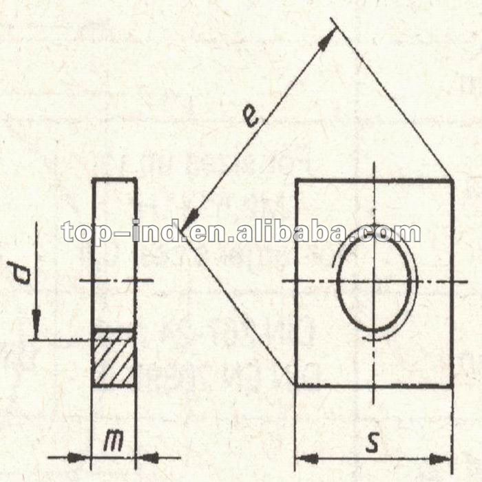 square coupling nut