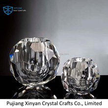 Top fashion diamond crystal candle holder for wedding