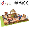 2018 kids amusement park wooden outdoor playground equipment with sand pit