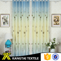 Kangtai textile new design modern style printed fanci window curtain