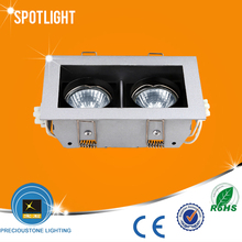 anti-glare double 2*50W halogen spotlight fixture